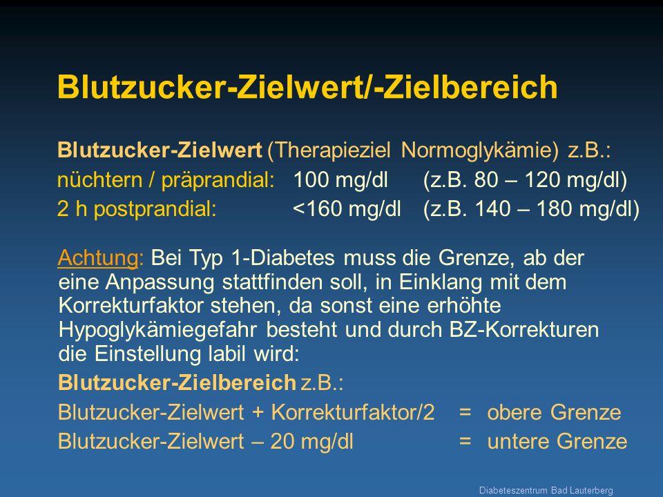 Blutzucker-Zielwert/-Zielbereich