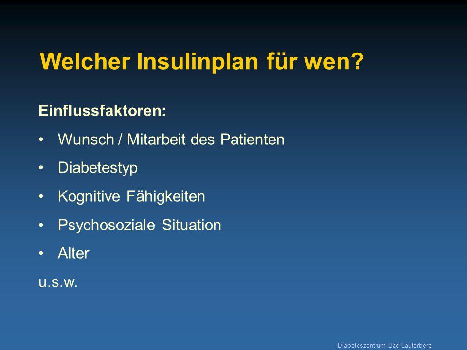 Welcher Insulinplan für wen