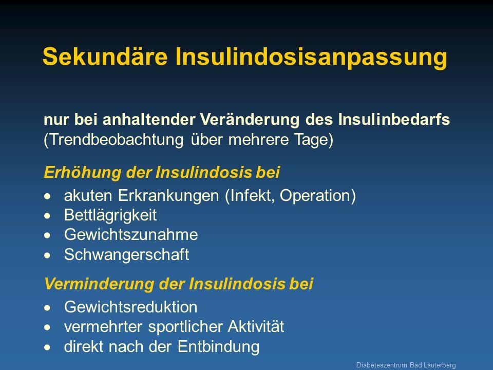 Sekundäre Insulindosisanpassung