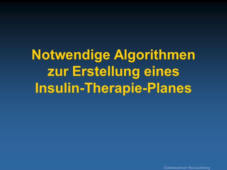 Notwendige Algorithmen zur Erstellung eines Insulin-Therapie-Planes