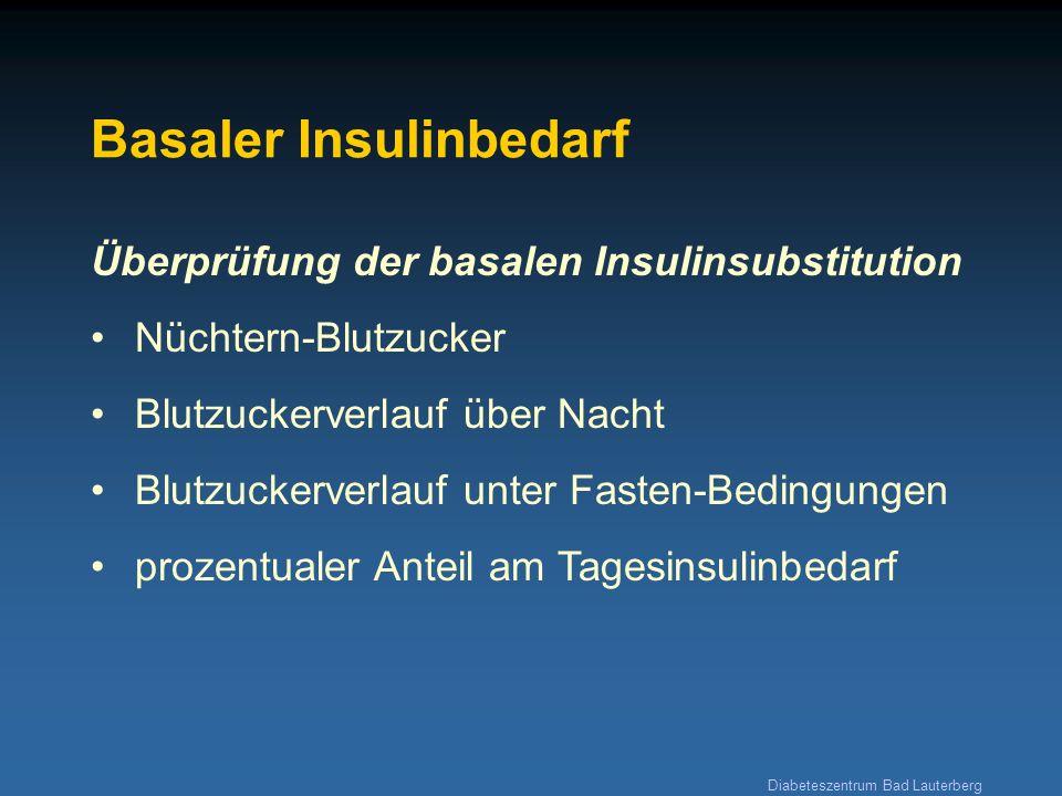 Basaler Insulinbedarf