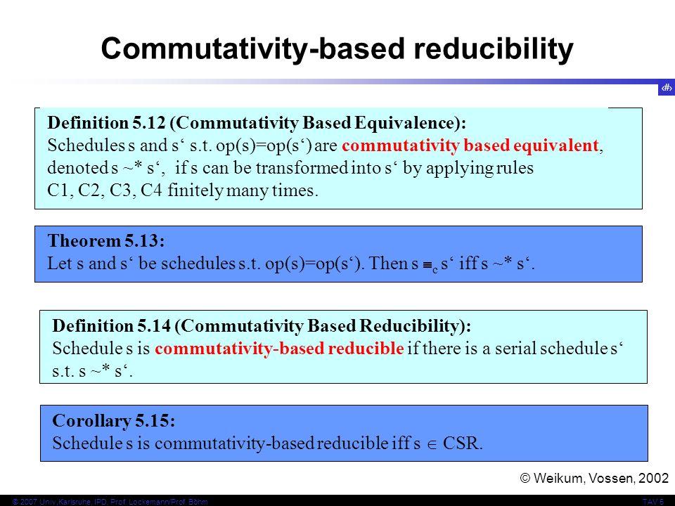 Commutativity-based reducibility