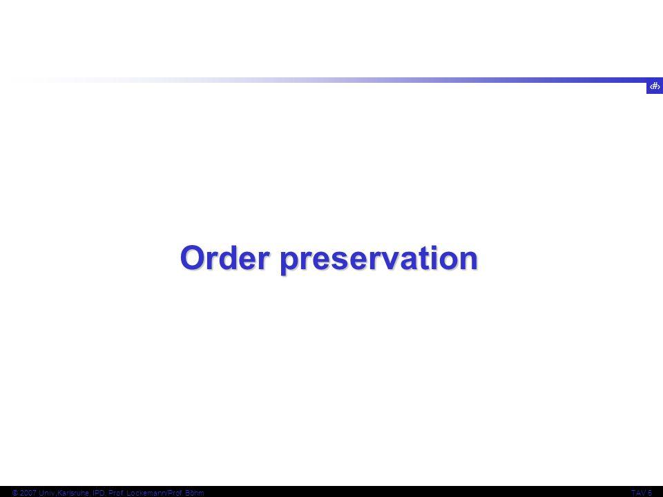 Order preservation
