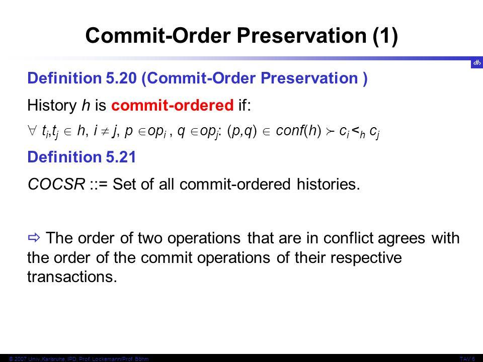 Commit-Order Preservation (1)