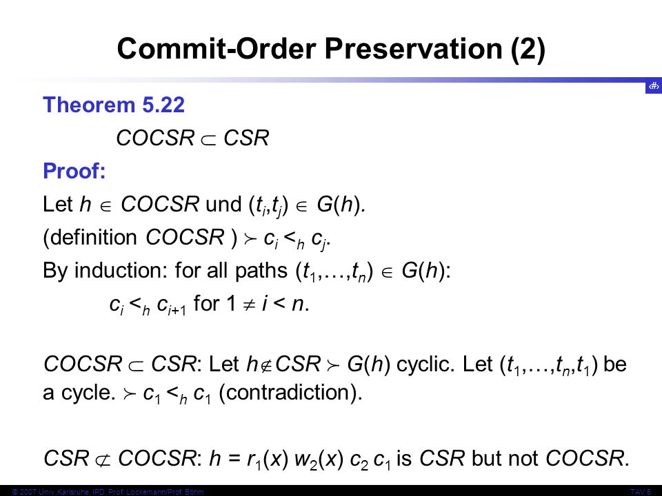 Commit-Order Preservation (2)