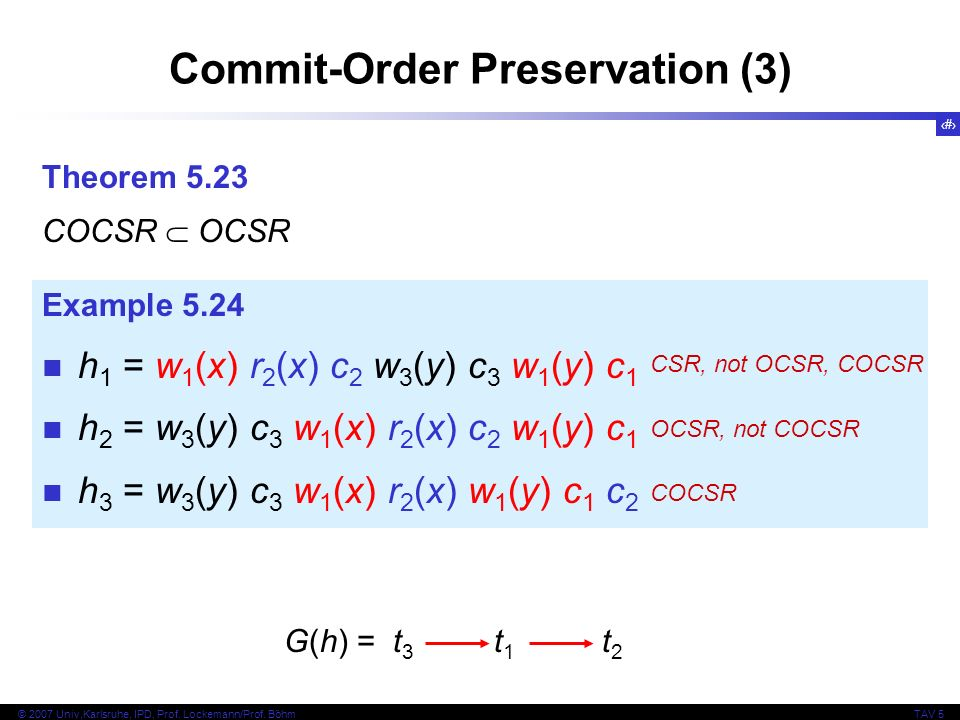 Commit-Order Preservation (3)