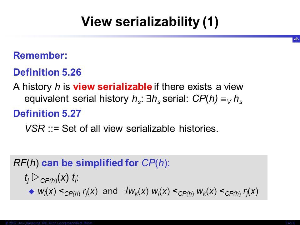 View serializability (1)