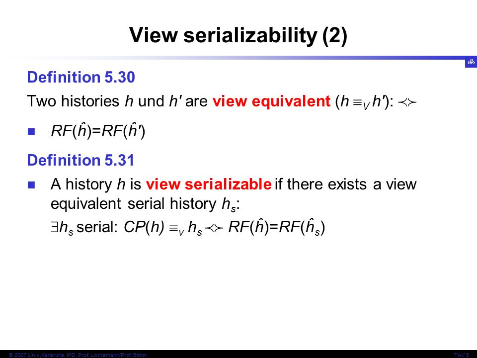 View serializability (2)