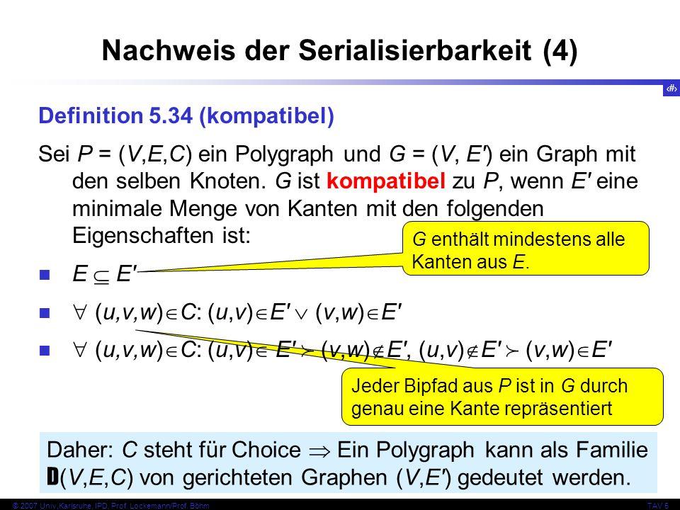 Nachweis der Serialisierbarkeit (4)