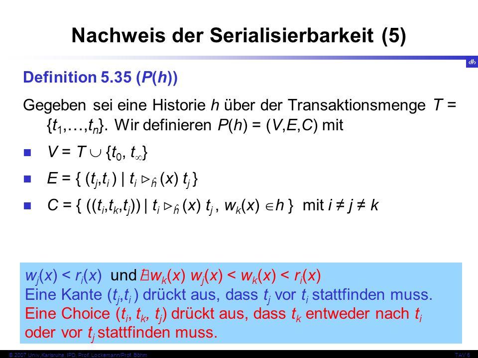 Nachweis der Serialisierbarkeit (5)