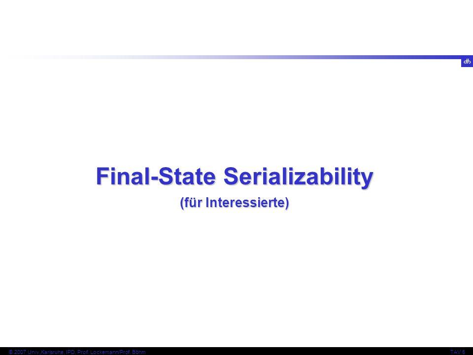 Final-State Serializability