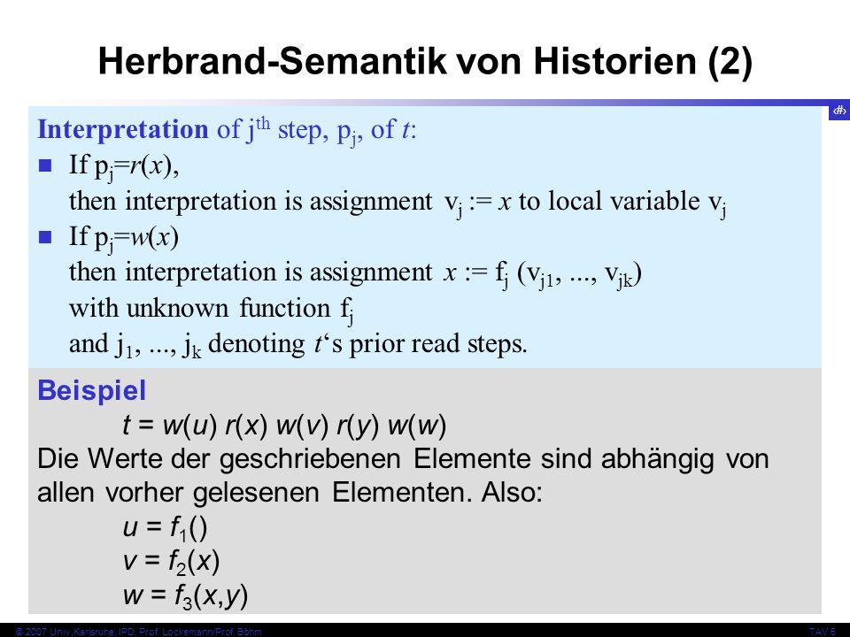 Herbrand-Semantik von Historien (2)