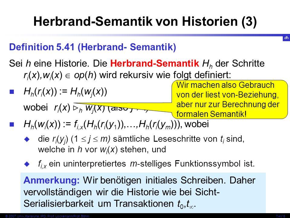 Herbrand-Semantik von Historien (3)
