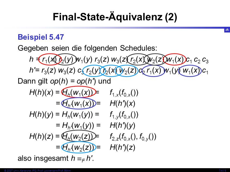 Final-State-Äquivalenz (2)