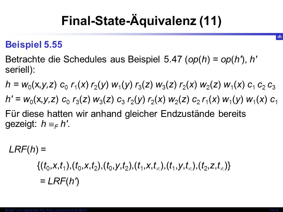 Final-State-Äquivalenz (11)