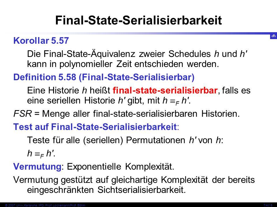 Final-State-Serialisierbarkeit