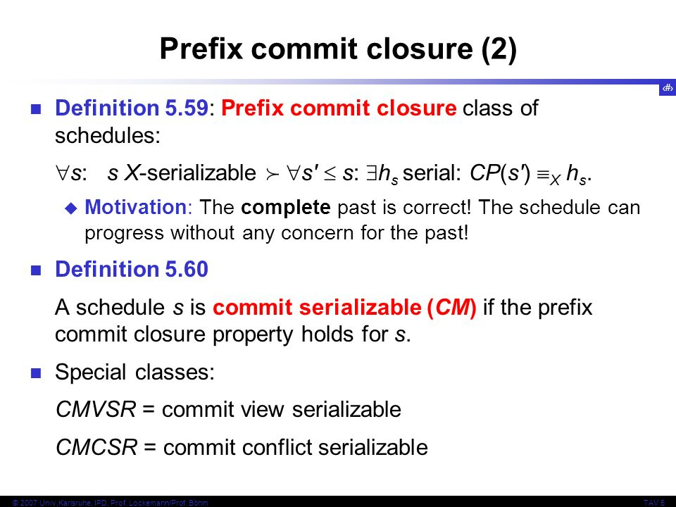 Prefix commit closure (2)