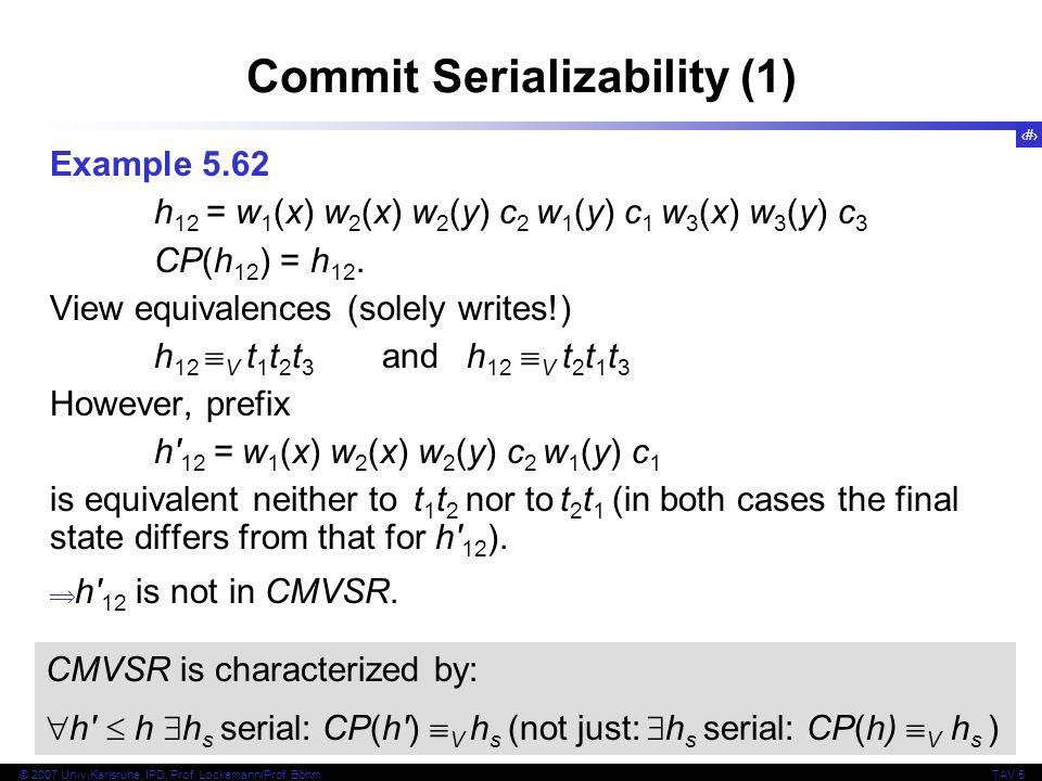 Commit Serializability (1)