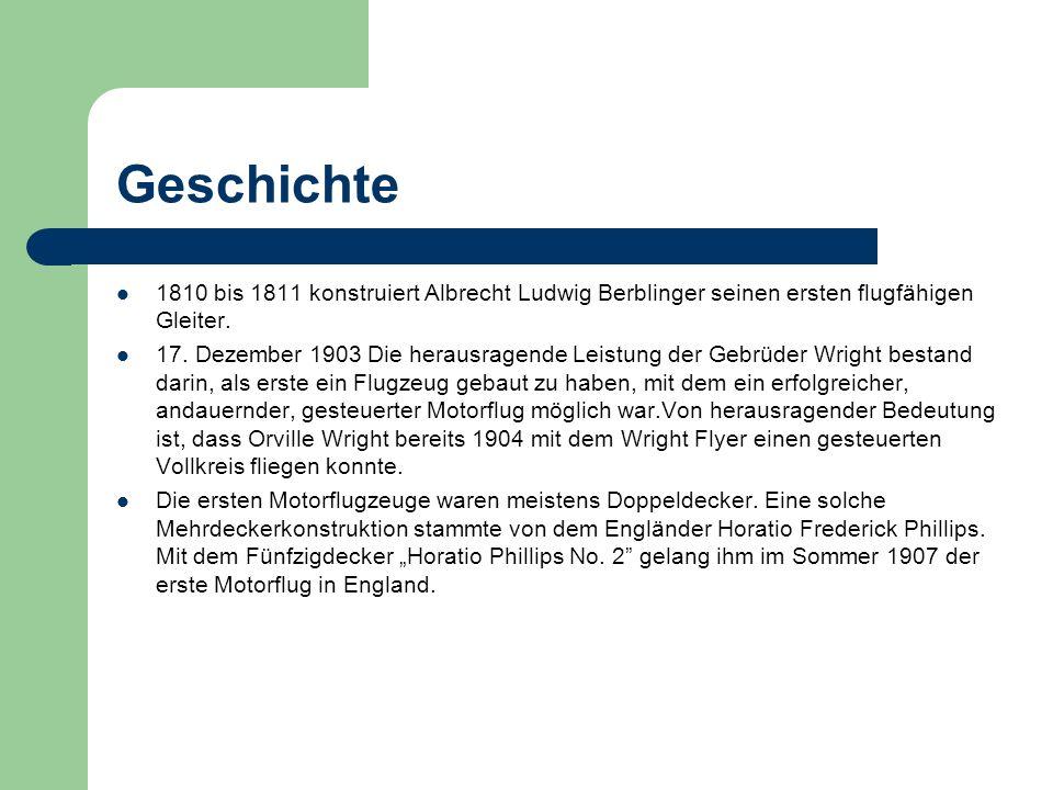 Geschichte 1810 bis 1811 konstruiert Albrecht Ludwig Berblinger seinen ersten flugfähigen Gleiter.