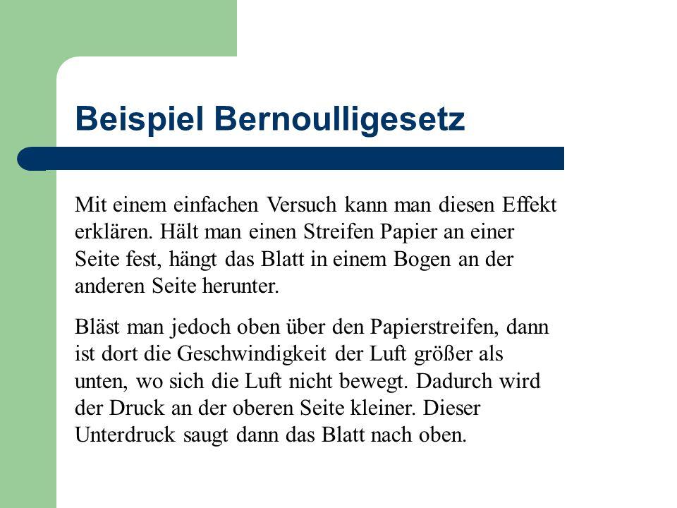 Beispiel Bernoulligesetz