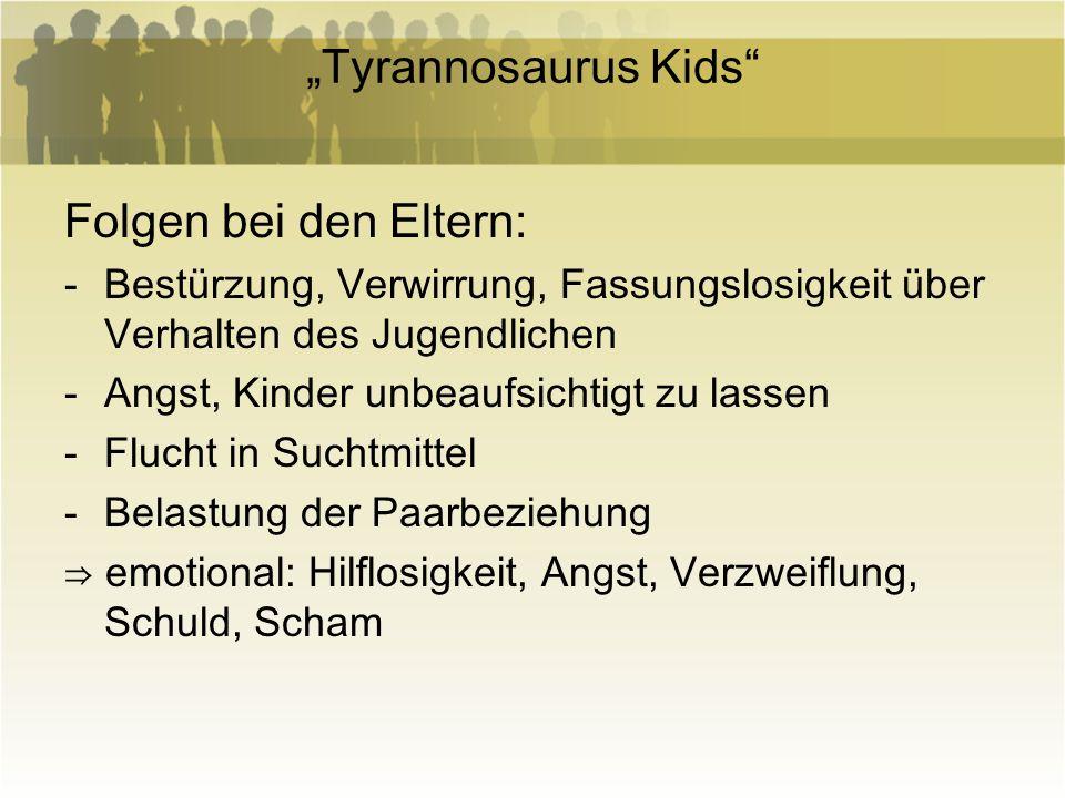 """""""Tyrannosaurus Kids Folgen bei den Eltern:"""