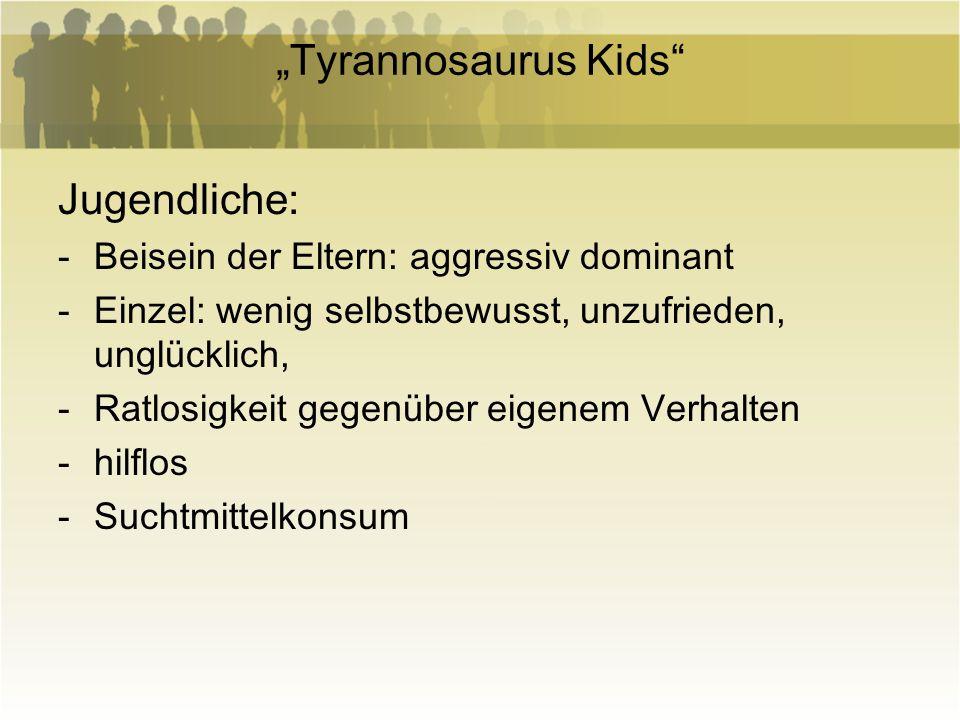 """""""Tyrannosaurus Kids Jugendliche:"""