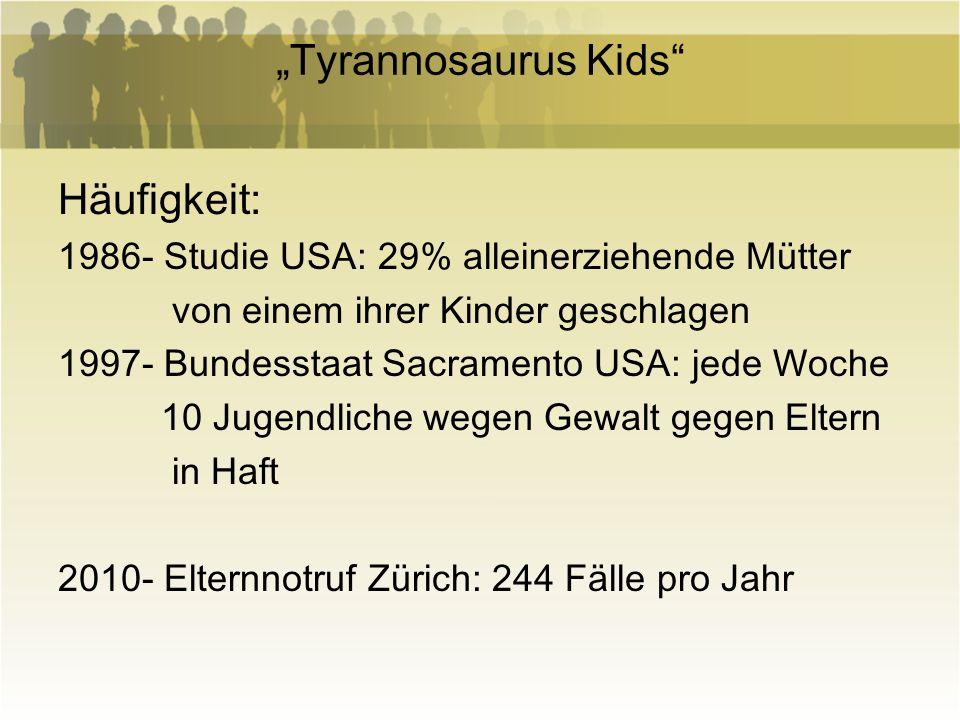 """""""Tyrannosaurus Kids Häufigkeit:"""