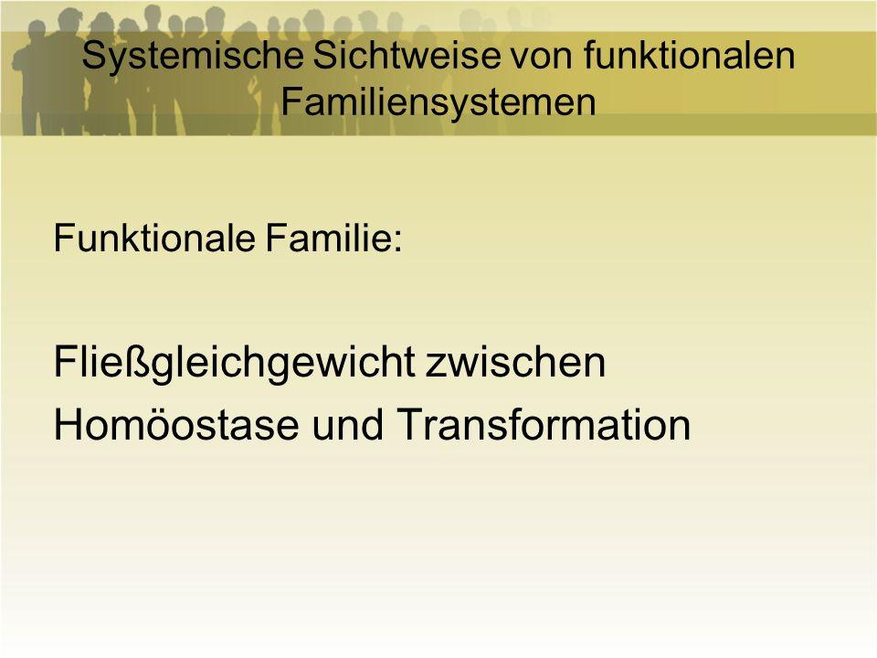 Systemische Sichtweise von funktionalen Familiensystemen