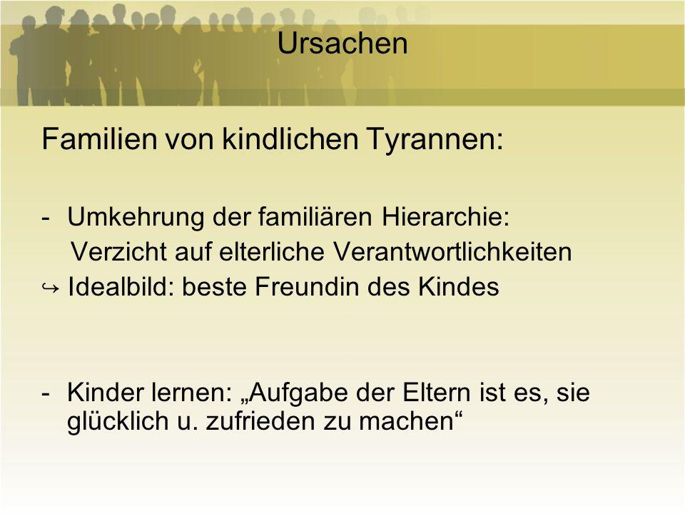 Familien von kindlichen Tyrannen:
