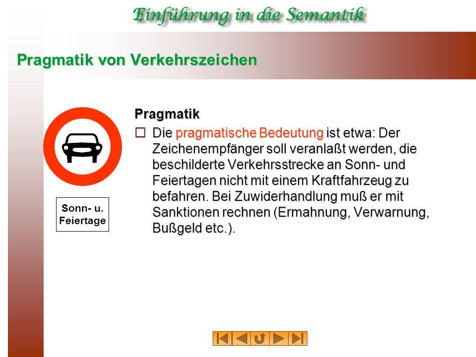 Pragmatik von Verkehrszeichen