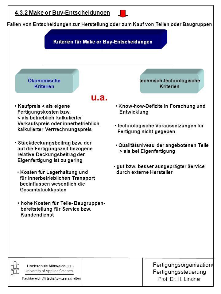 Kriterien für Make or Buy-Entscheidungen technisch-technologische