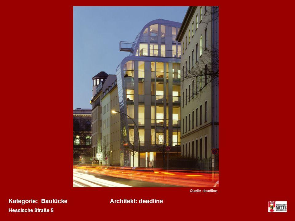 Kategorie: Baulücke Architekt: deadline Hessische Straße 5
