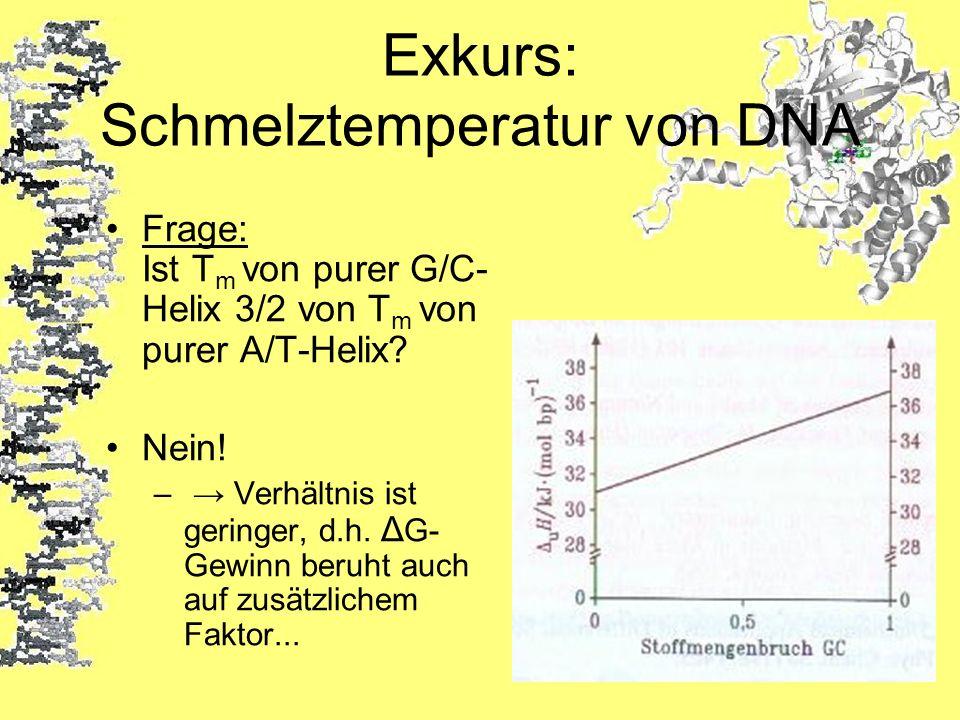 Exkurs: Schmelztemperatur von DNA