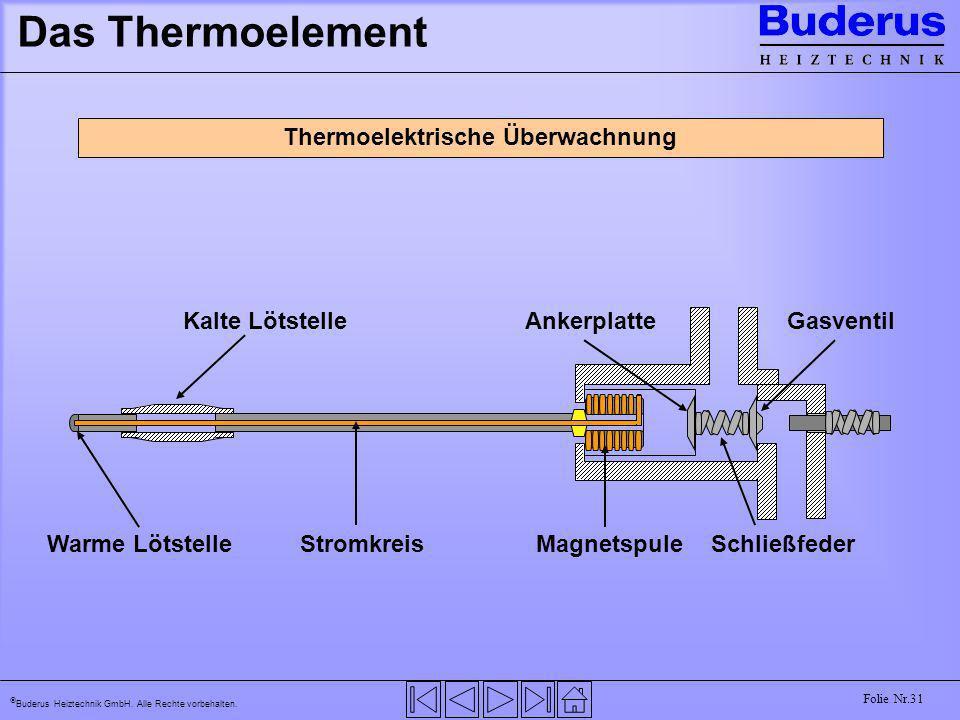 Thermoelektrische Überwachnung