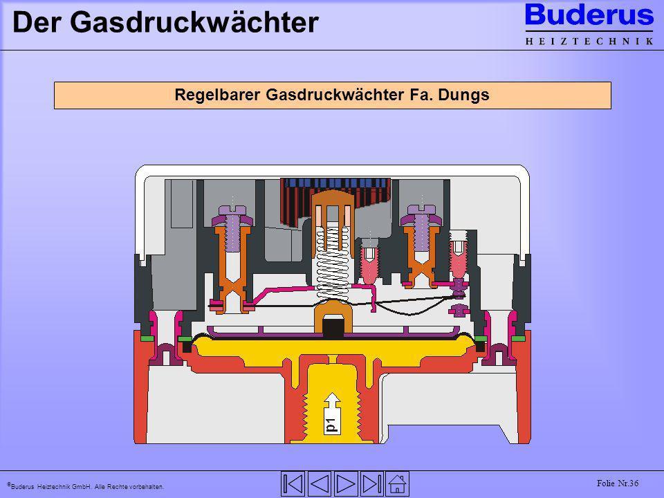 Regelbarer Gasdruckwächter Fa. Dungs