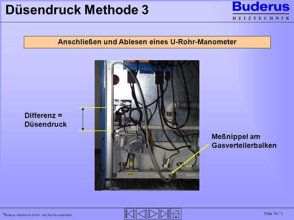Anschließen und Ablesen eines U-Rohr-Manometer