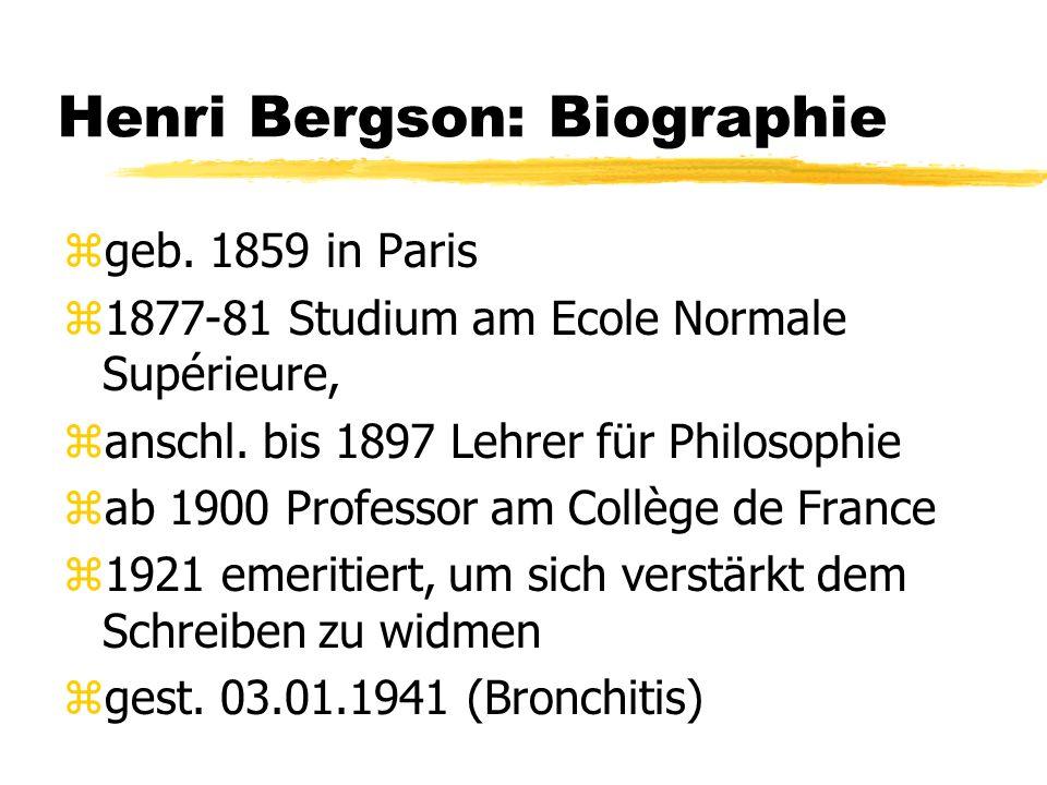 Henri Bergson: Biographie