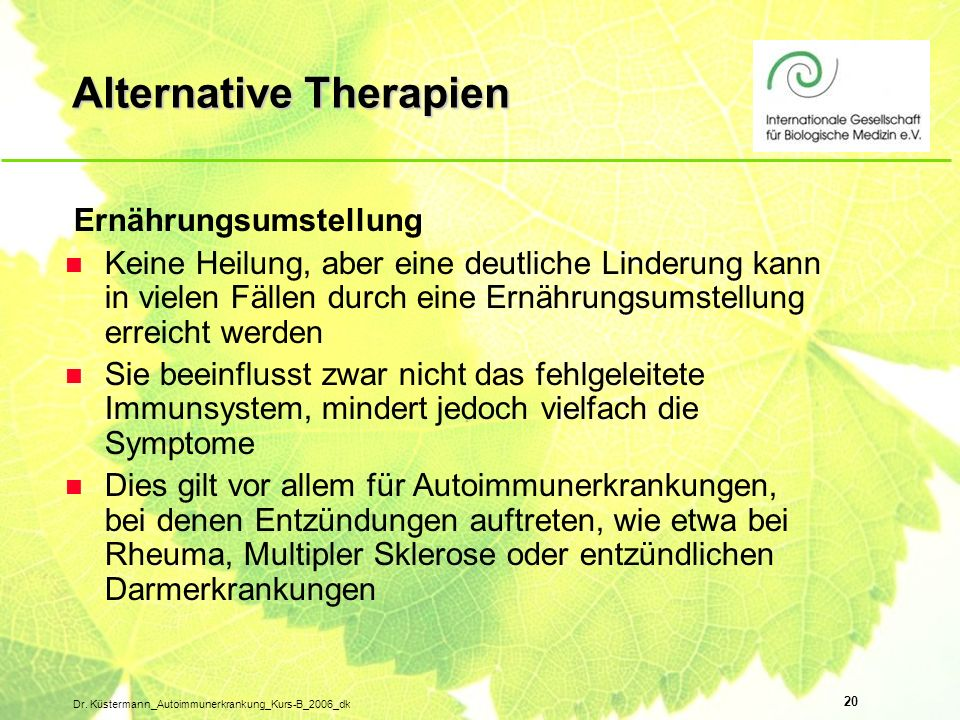 Alternative Therapien
