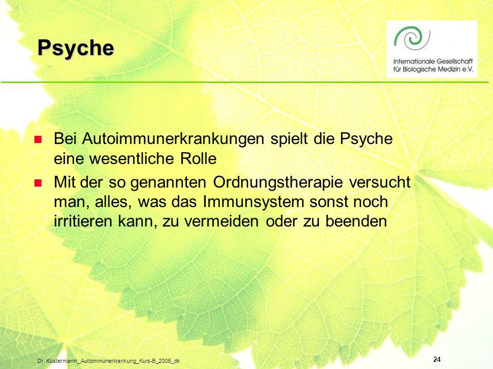 Psyche Bei Autoimmunerkrankungen spielt die Psyche eine wesentliche Rolle.