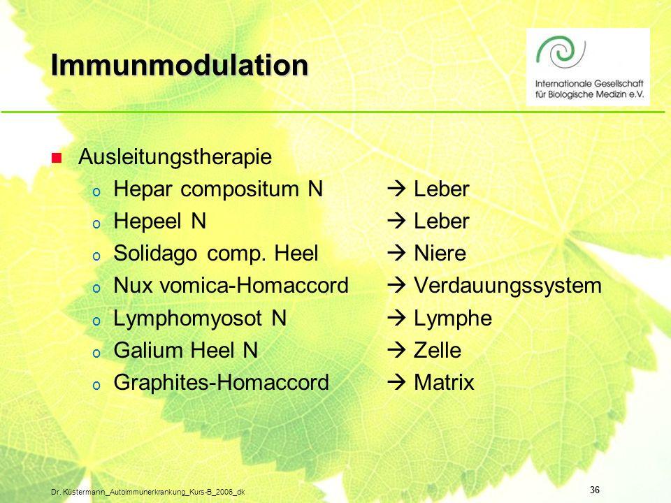 Immunmodulation Ausleitungstherapie Hepar compositum N  Leber