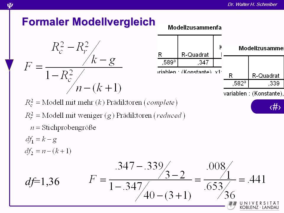 Formaler Modellvergleich