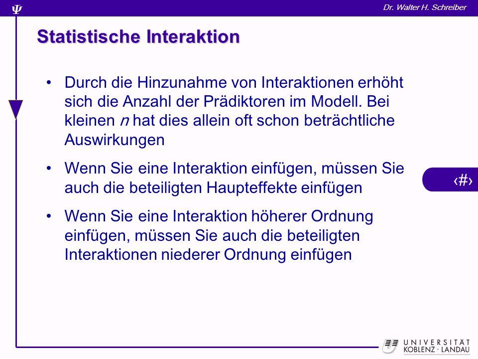 Statistische Interaktion