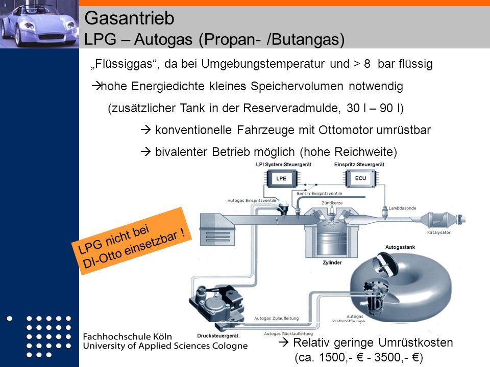 Gasantrieb LPG – Autogas (Propan- /Butangas)