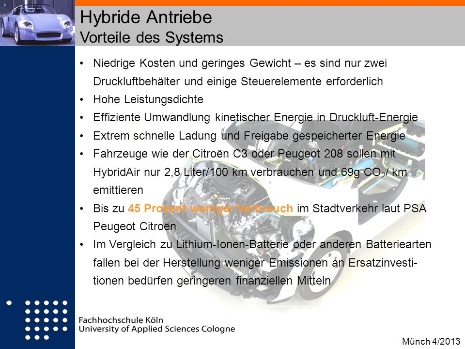 Hybride Antriebe Vorteile des Systems