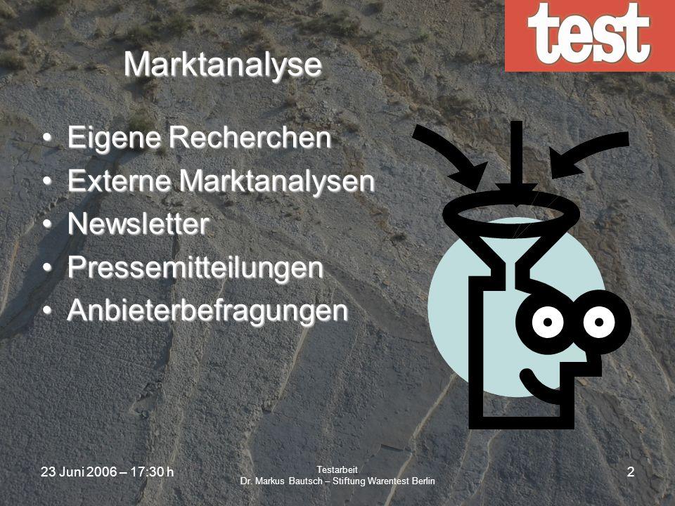 Dr. Markus Bautsch – Stiftung Warentest Berlin