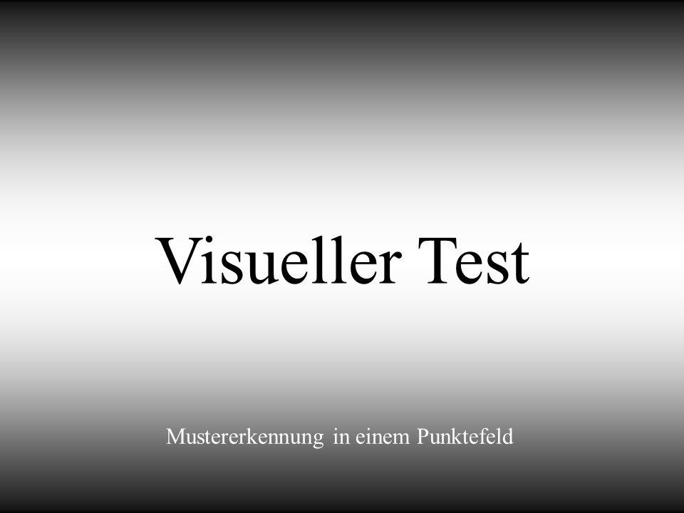Visueller Test Mustererkennung in einem Punktefeld