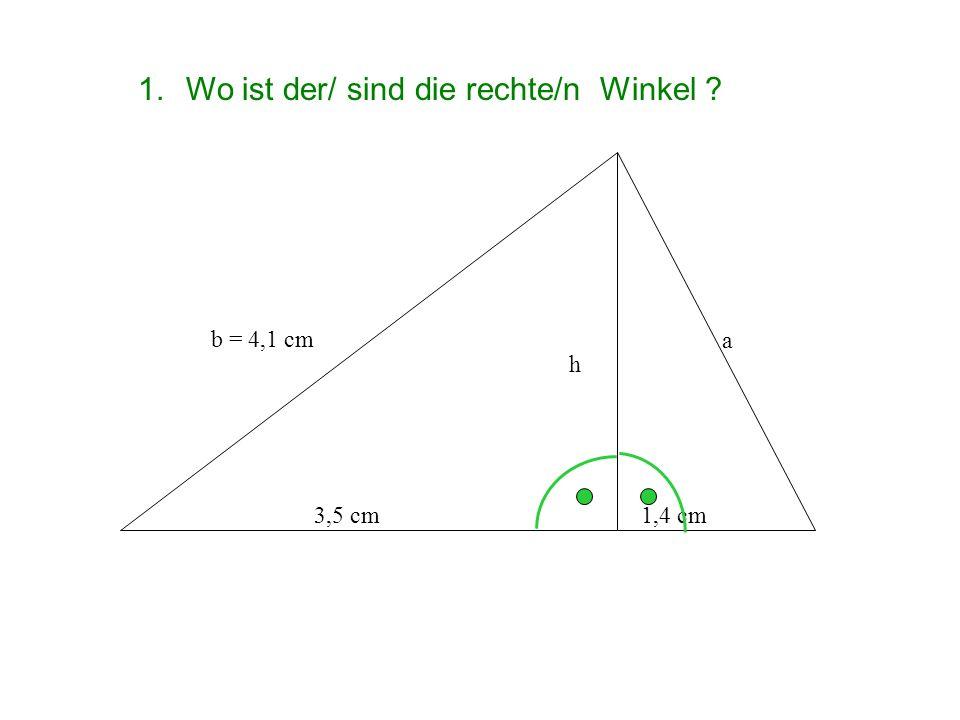 Wo ist der/ sind die rechte/n Winkel