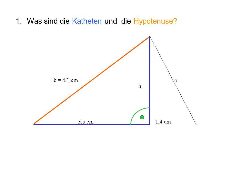 Was sind die Katheten und die Hypotenuse