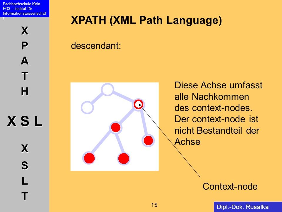 XPATH (XML Path Language) descendant: