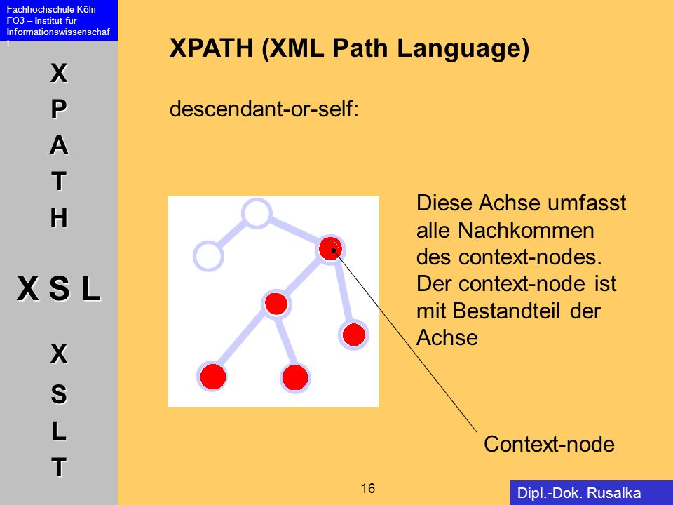 XPATH (XML Path Language) descendant-or-self: